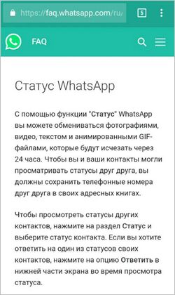 Статус в WhatsApp — это то же самое, что и Сториз в Инстаграм