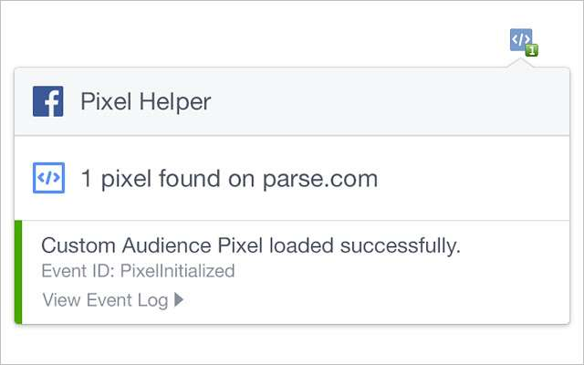 Facebook Pixel Helper расширение для Google Chrome для мониторинга Facebook в реальном времени